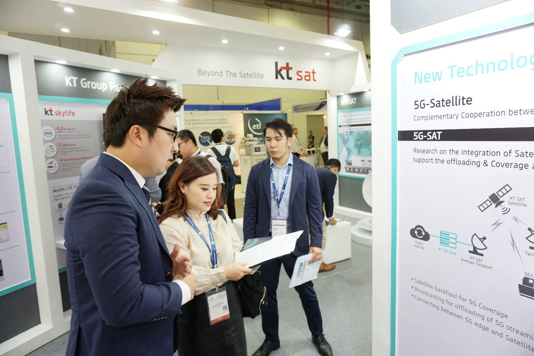 S. Korea's KT and KT SAT Showcases 5G and Satellite to the World