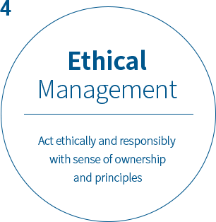 Precision Management Ethical actions and take responsibilities for results with owner spirit and principles